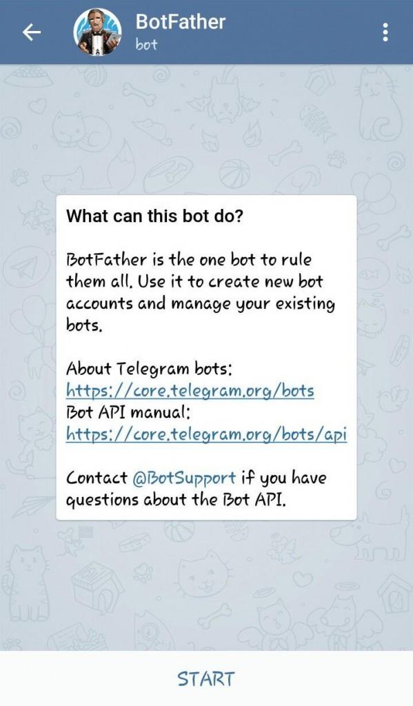 تصویر 1 - آموزش ساخت ربات تلگرام