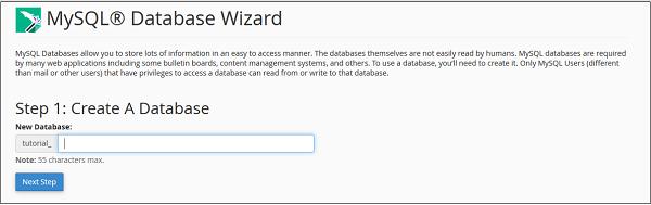 آموزش ایجاد database در cPanel