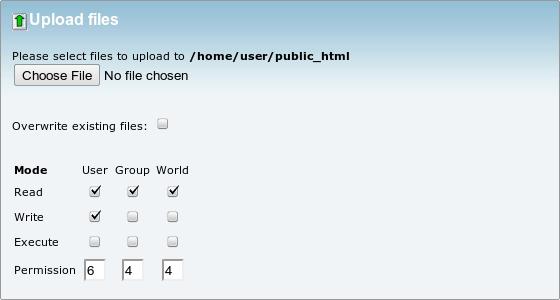 آپلود فایل در کنترل پنل cPanel