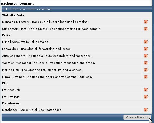 راهنمای پشتیبان گیری هاست در DirectAdmin