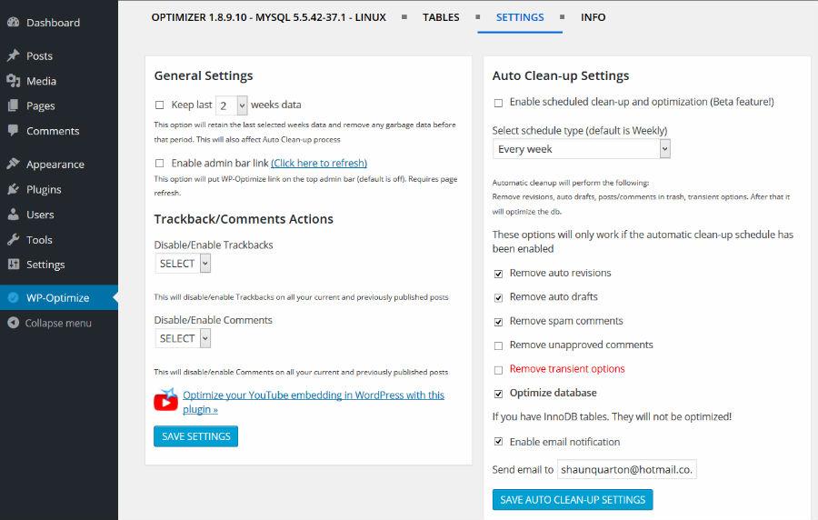 آموزش کار با افزونه WP-Optimize