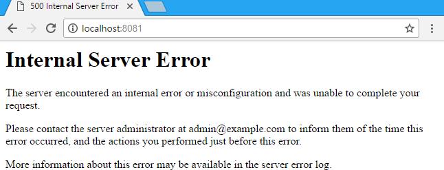 ارور 500 Internal Server Error ویندوز سرور