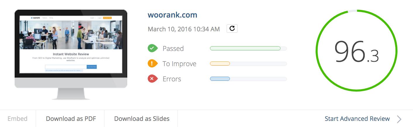 بررسی سایت با استفاده از Woorank