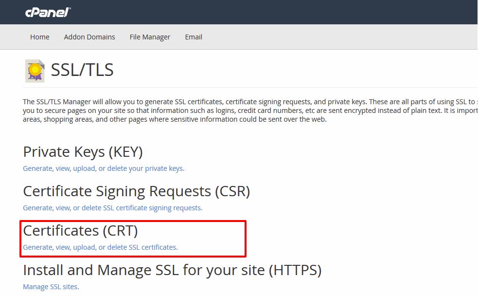 آموزش نصب و فعالسازی گواهی SSL در cPanel
