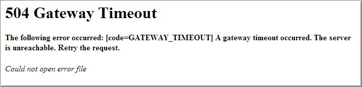 آموزش حل ارور Gateway 504
