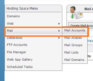آموزش ساخت اکانت Email در WebsitePanel