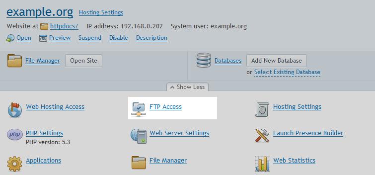 آموزش ساخت اکانت FTP در پلسک