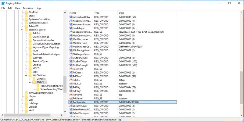 تغییر port در remote desktop سرور ویندوز