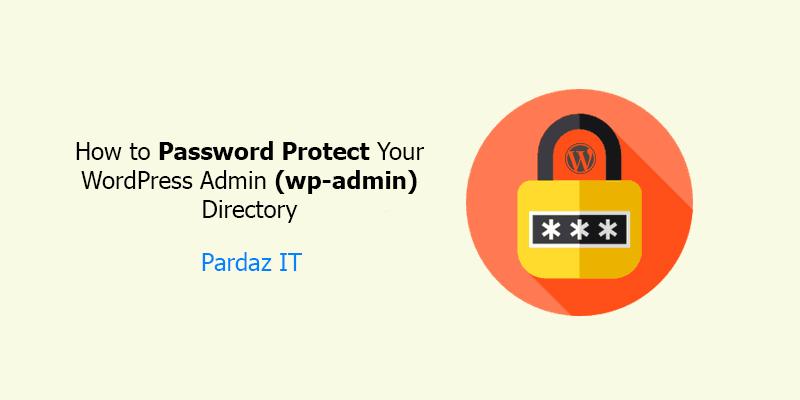 آموزش تنظیم رمز برای WP-Admin وردپرس