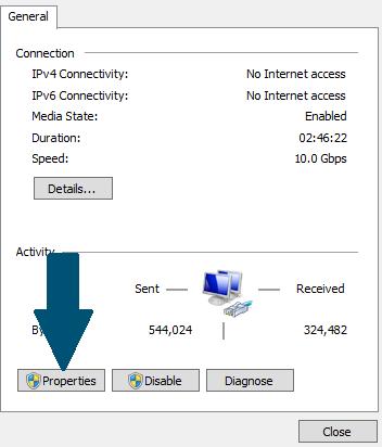 آموزش تنظیم IP اختصاصی در ویندوز سرور