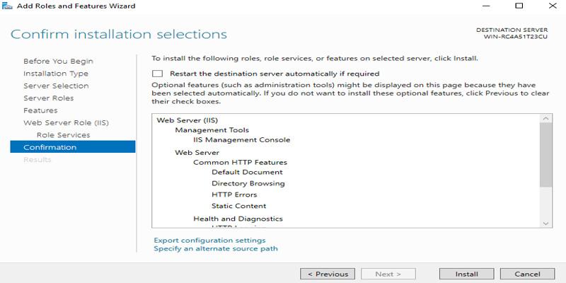 آموزش نصب کامل IIS در ویندوز سرور 2016