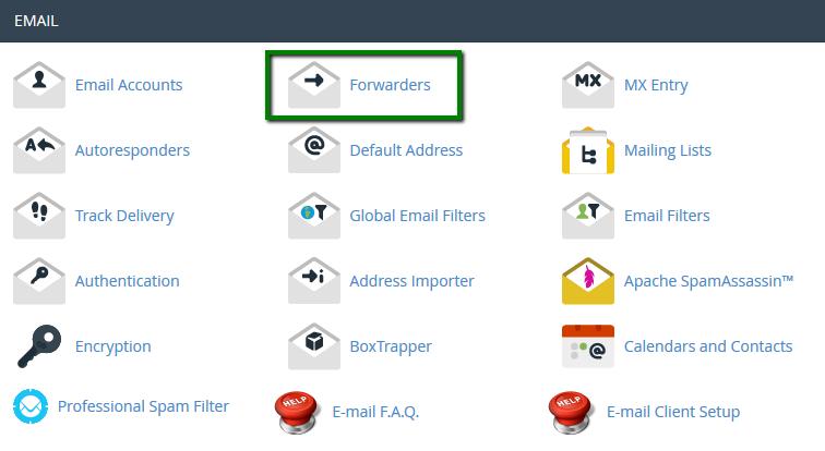 آموزش Forward ایمیل ها در کنترل پنل cPanel