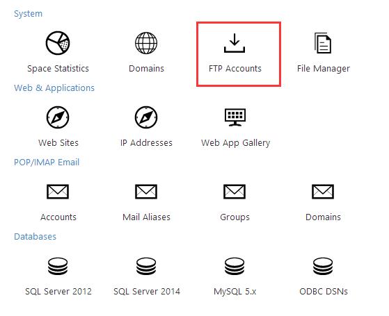 آموزش ساخت اکانت FTP در WebsitePanel