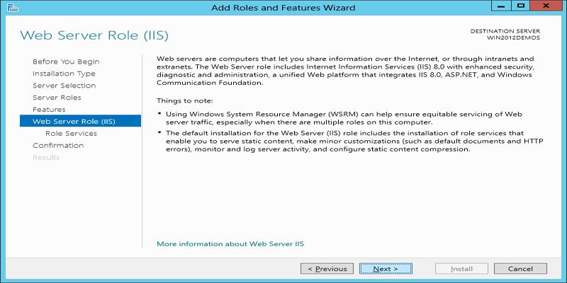 آموزش نصب کامل IIS در ویندوز سرور 2012