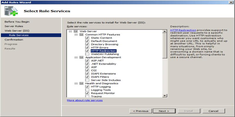آموزش کامل نصب IIS در ویندوز سرور 2008