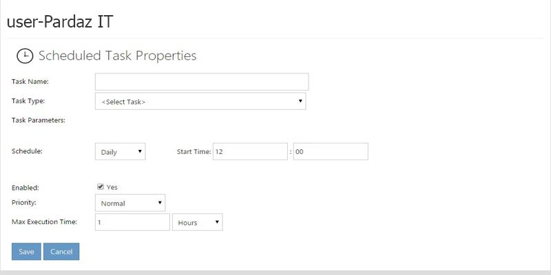 آموزش ایجاد Scheduled Task در WebsitePanel