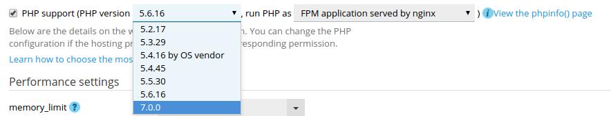 آموزش تنظیم ورژن PHP در پلسک