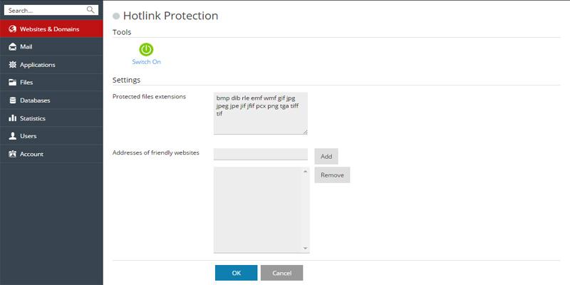 فعالسازیhotlink protection درپلسک