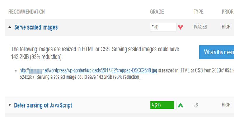 حل ارور Serve scaled images در GTmetrix