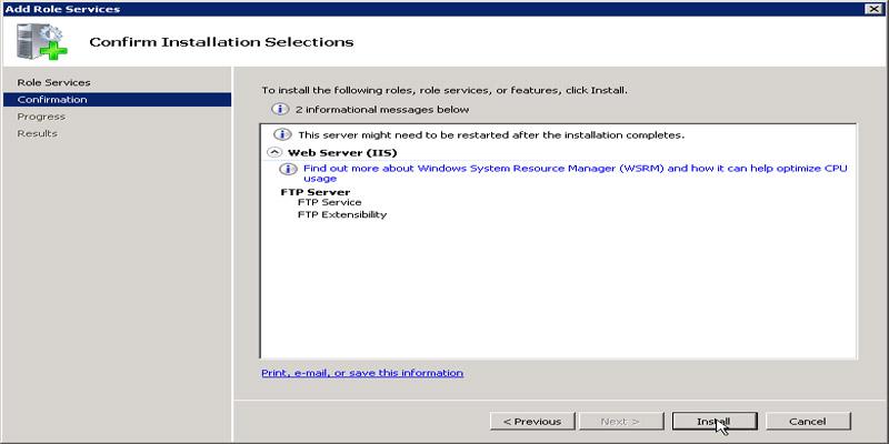 آموزش نصب FTP Server در ویندوز سرور 2008