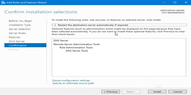 آموزش نصب Microsoft DNS در ویندوز سرور