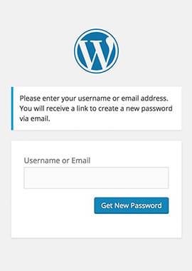حذف گزینه بازیابی رمز عبور وردپرس