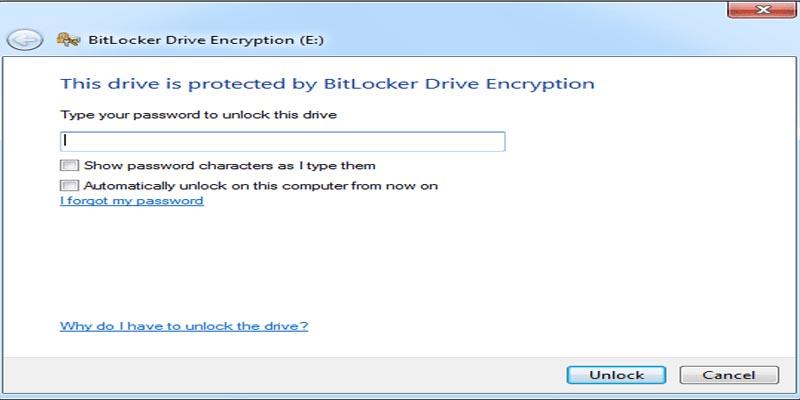 آموزش بازگردانی رمز BitLocker