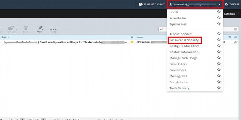 آموزش تغییر رمز ایمیل در cPanel و Webmail