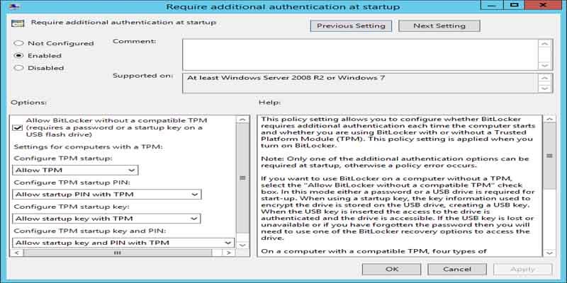 آموزش نصب و فعالسازی BitLocker در ویندوز سرور