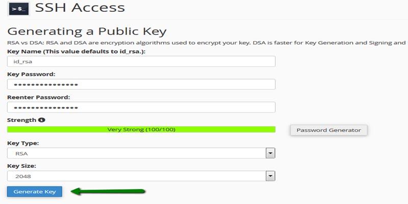 اتصال به هاست سی پنل با کلید SSH