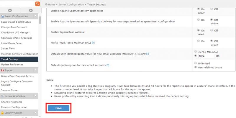 محدود کردن تعداد ارسال ایمیل در cPanel